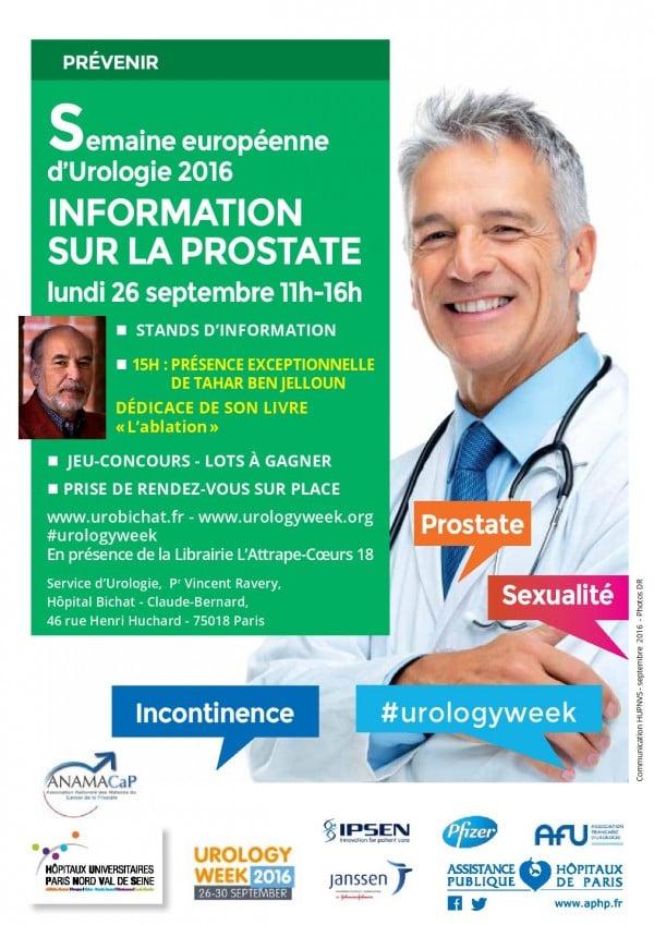 journée d'information sur les maladies de la prostate à l'hôpital Bichat