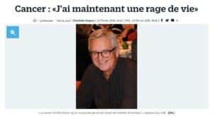 Le Parisien témoignagne Guy VOLK cancer prostate rage de vie