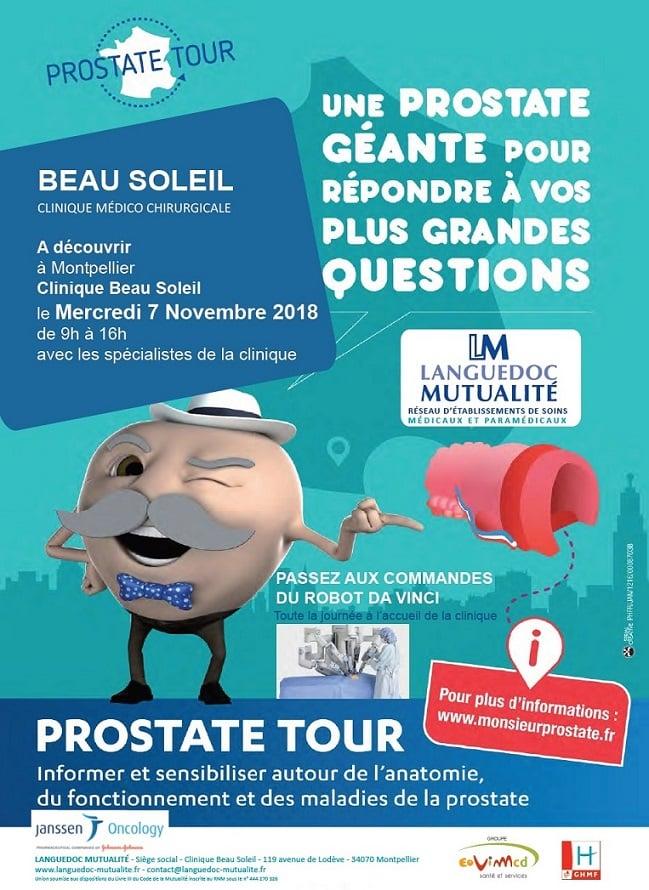 Affiche prostate tour Montpellier Beau soleil
