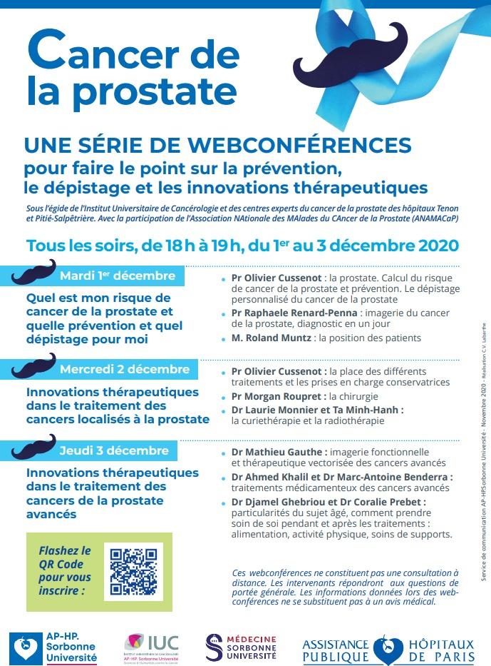 Programme visioconférences movember 1 2 3 décembre 2020