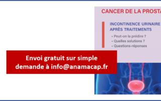 Guide patient : cancer de prostate et incontinence après traitements : prédiction, solutions, questions-réponses