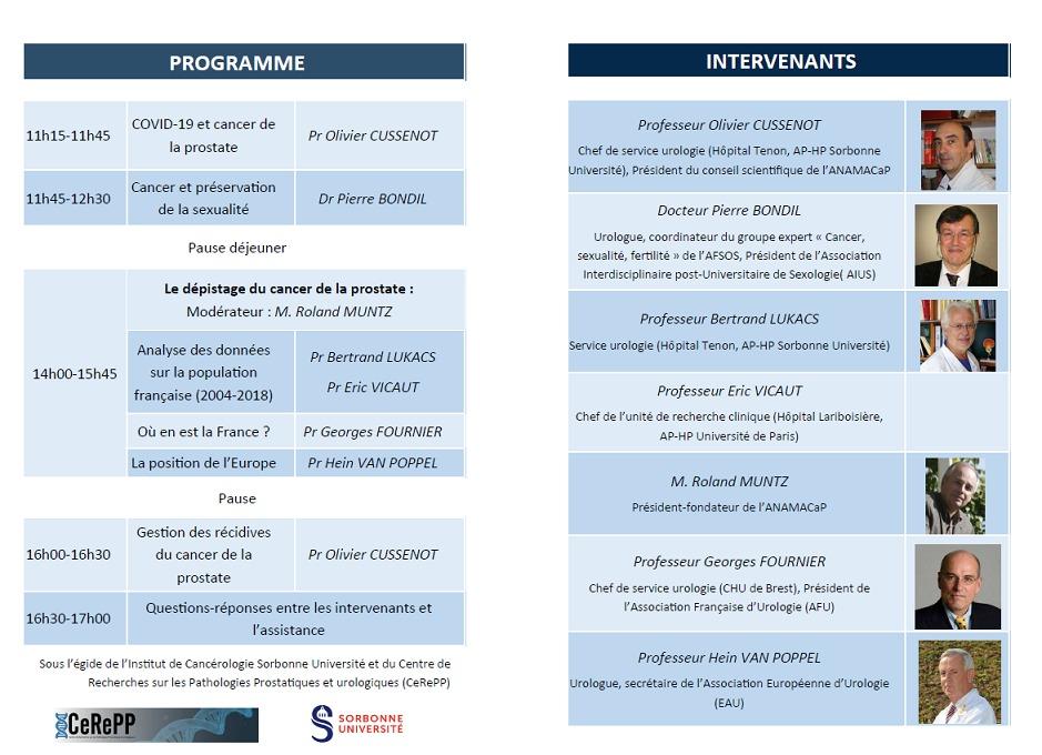 Programme de la 19ème journée scientifiques médecins patients de l'ANAMACaP